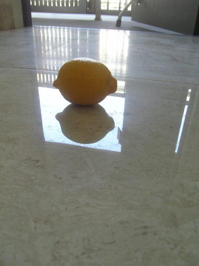 再生後はレモンがクッキリ映っています