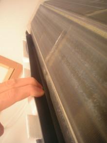ハウスクリーニング、エアコンクリーニングのワールドクリーナー -外す前のドレンパン