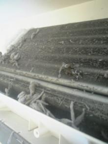 ハウスクリーニング、エアコンクリーニングのワールドクリーナー -ホコリだらけのアルミフィン